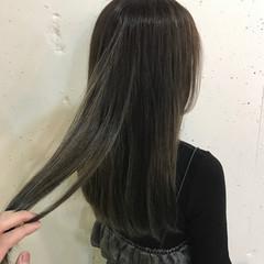 ストリート グレージュ ロング ハイライト ヘアスタイルや髪型の写真・画像