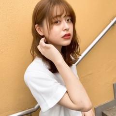 フェミニン ミディアム 表参道 大人可愛い ヘアスタイルや髪型の写真・画像