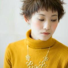 外国人風 ショート 暗髪 ブラウン ヘアスタイルや髪型の写真・画像