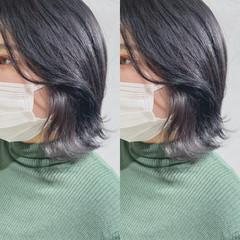 韓国風ヘアー 切りっぱなしボブ ミニボブ ナチュラル ヘアスタイルや髪型の写真・画像