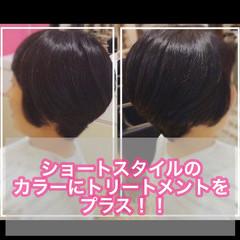ベリーショート 切りっぱなしボブ ショートヘア ショート ヘアスタイルや髪型の写真・画像