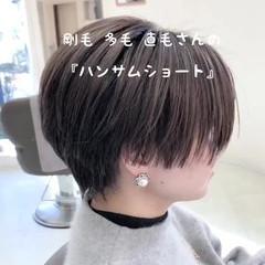 モード 簡単スタイリング ショート 透明感カラー ヘアスタイルや髪型の写真・画像