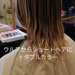 パープル ハンサムショート ブリーチ おしゃれ ヘアスタイルや髪型の写真・画像