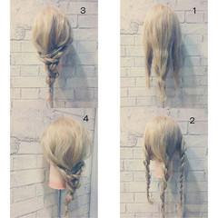 ヘアアレンジ セミロング 渋谷系 外国人風 ヘアスタイルや髪型の写真・画像