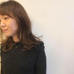 セミロング ガーリー ウェーブ 女子力 ヘアスタイルや髪型の写真・画像