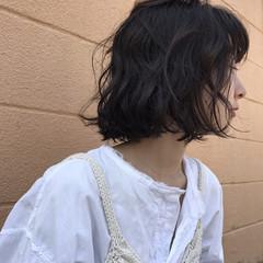 簡単 愛され パーマ ボブ ヘアスタイルや髪型の写真・画像