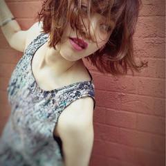 前髪あり 外国人風 ボブ ナチュラル ヘアスタイルや髪型の写真・画像