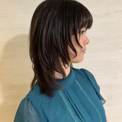 ミディアム ウルフレイヤー レイヤースタイル ストリート ヘアスタイルや髪型の写真・画像