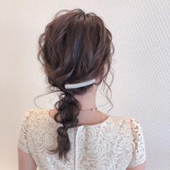 ヘアアレンジ 結婚式ヘアアレンジ ヘアセット ミディアム ヘアスタイルや髪型の写真・画像