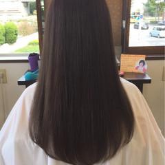 外国人風カラー 暗髪 ナチュラル ロング ヘアスタイルや髪型の写真・画像