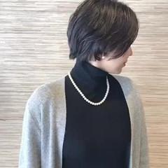透明感カラー イルミナカラー ショート コンサバ ヘアスタイルや髪型の写真・画像