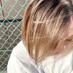 極細ハイライト ナチュラル ショート 透明感カラー ヘアスタイルや髪型の写真・画像