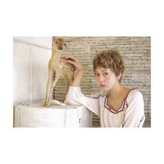 ブラウン 外国人風 ストリート 春 ヘアスタイルや髪型の写真・画像