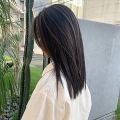 ストレート 韓国ヘア 外国人風カラー ロング ヘアスタイルや髪型の写真・画像