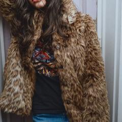 前髪あり パーマ かき上げ前髪 ストリート ヘアスタイルや髪型の写真・画像