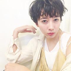 外国人風 アッシュ パーマ ショート ヘアスタイルや髪型の写真・画像