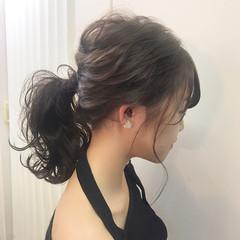 フェミニン アンニュイ 透明感 ウェーブ ヘアスタイルや髪型の写真・画像