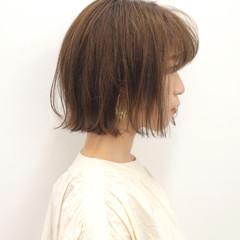 モテ髪 切りっぱなし 切りっぱなしボブ 外ハネボブ ヘアスタイルや髪型の写真・画像
