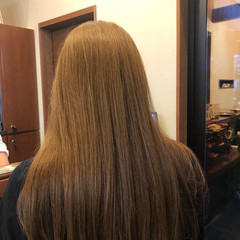 ツヤツヤ クールロング エレガント サラサラ ヘアスタイルや髪型の写真・画像