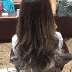 アッシュグレージュ 外国人風カラー エクステ ロング ヘアスタイルや髪型の写真・画像