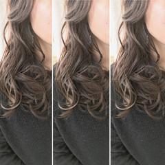 パーマ ロング 簡単ヘアアレンジ 上品 ヘアスタイルや髪型の写真・画像