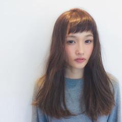ベビーバング 無造作 ロング ショートバング ヘアスタイルや髪型の写真・画像