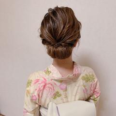 エレガント 浴衣アレンジ 浴衣ヘア ヘアアレンジ ヘアスタイルや髪型の写真・画像