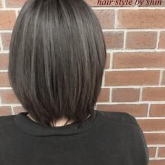 ニュアンス アッシュ ボブ 色気 ヘアスタイルや髪型の写真・画像