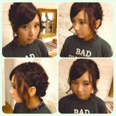 渋谷系 ミディアム 卵型 ウェーブ ヘアスタイルや髪型の写真・画像