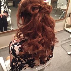 巻き髪 ヘアアレンジ ロング ガーリー ヘアスタイルや髪型の写真・画像