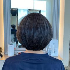 似合わせカット 内巻き ナチュラル ボブ ヘアスタイルや髪型の写真・画像
