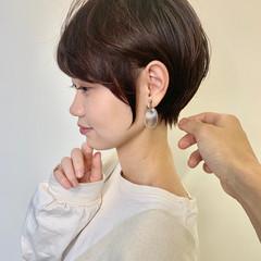 ショート ショートボブ インナーカラー ガーリー ヘアスタイルや髪型の写真・画像