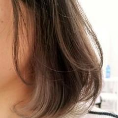 抜け感 ボブ インナーカラー ダブルカラー ヘアスタイルや髪型の写真・画像