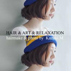 アンニュイ ボブ ストリート リラックス ヘアスタイルや髪型の写真・画像