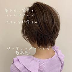 ショート ショートヘア ショートボブ ベージュ ヘアスタイルや髪型の写真・画像
