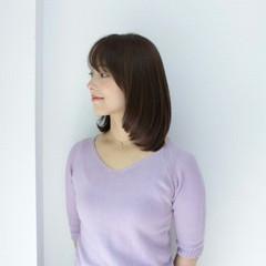 セミロング ミディアム グレージュ 大人かわいい ヘアスタイルや髪型の写真・画像