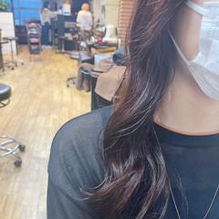 透明感カラー ブリーチなし ナチュラル ロング ヘアスタイルや髪型の写真・画像