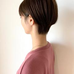 ショート 丸みショート 透明感カラー 大人ショート ヘアスタイルや髪型の写真・画像