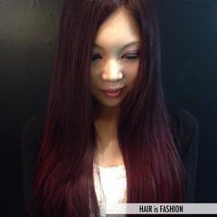グラデーションカラー 外国人風カラー ナチュラル ロング ヘアスタイルや髪型の写真・画像