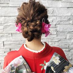 結婚式 ロング フェミニン 成人式 ヘアスタイルや髪型の写真・画像