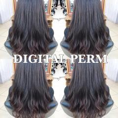 パーマ オフィス フェミニン ゆるふわ ヘアスタイルや髪型の写真・画像