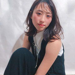 女子会 ナチュラル デート ミディアム ヘアスタイルや髪型の写真・画像