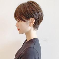 黒髪 エレガント パーマ ショート ヘアスタイルや髪型の写真・画像