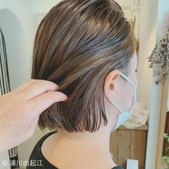 ボブ 夏 モード インナーカラー ヘアスタイルや髪型の写真・画像