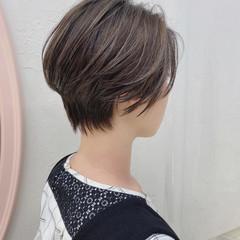 ハイライト 透明感カラー バレイヤージュ ショート ヘアスタイルや髪型の写真・画像
