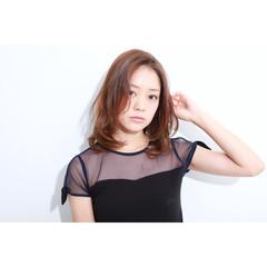 グラデーションカラー ミディアム アッシュ モード ヘアスタイルや髪型の写真・画像