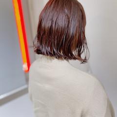 ナチュラル ボブ モテボブ ニュアンスヘア ヘアスタイルや髪型の写真・画像