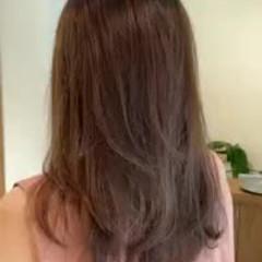 グラデーションカラー お出かけヘア デートヘア 極細ハイライト ヘアスタイルや髪型の写真・画像