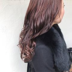 ピンクブラウン ラベンダーピンク ピンクアッシュ ガーリー ヘアスタイルや髪型の写真・画像