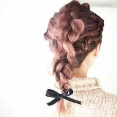 ピンク 愛され モテ髪 外国人風カラー ヘアスタイルや髪型の写真・画像